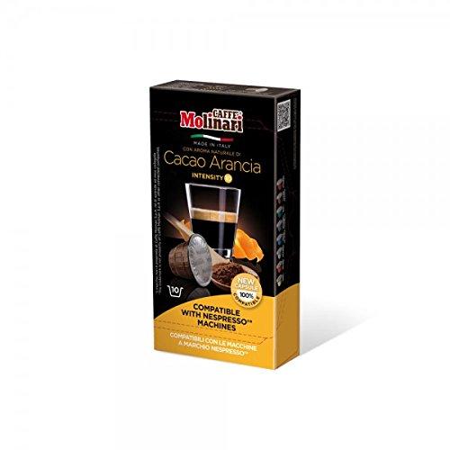 Purchase CAFFÈ MOLINARI Coffee - Nespresso compatible capsules - ESPRESSO COCOA and ORANGE - 80 capsules pack from Caffè Molinari S.p.A., ITALIA