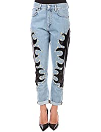 Moschino Women's 03350520A1294 Blue Cotton Jeans