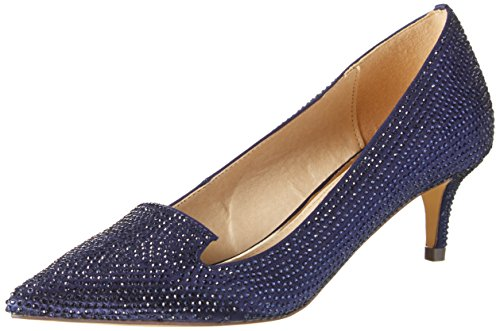 Buffalo Damen RK 1602-030-A Satin Pumps, Blau (Navy), 39 EU