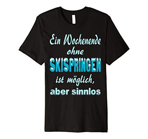 Skispringen Shirt Wintersport Skispringer Geschenk lustig