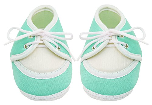 Neska Moda Baby Boys & Girls Lace Mint Booties For 0 To 12 Months Infants