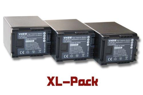 3 X LI ION BATERIA 2400MAH (7 2 V) APTO PARA CANON LEGRIA SERIE  Z B  HF10  HF S 10HD  HF M32  HF M406  HG21  ECT  SUSTITUYE BATERIA: BP 827