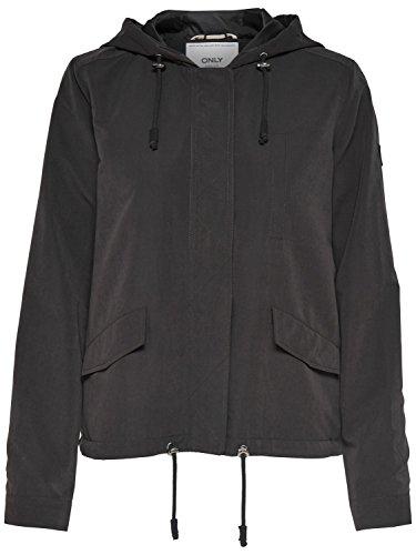 Only Damen Parka Übergangsjacke Kapuzenjacke Jacke (40 (Herstellergröße: L), Black)