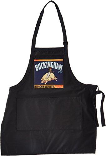 APR _ 171140BLN Vintage Label und Werbung kunst-Buckingham Marke California bartletts Cowboy Reiten ein Schwein-Schürzen -