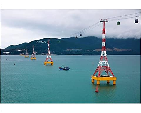 Photographic Print of View of Vinpearl Land Cable Car and