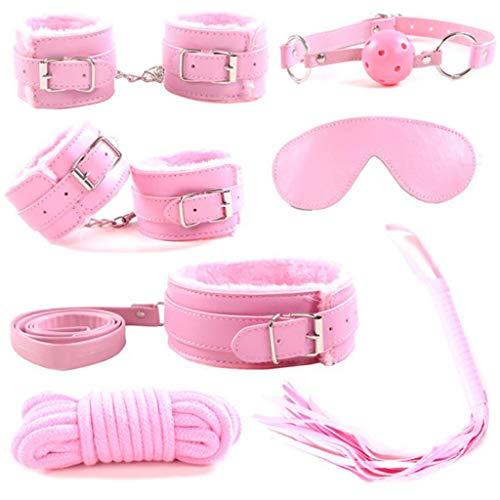 Rnalley Bettwäsche Spielzeug Bettwäsche Spielzeug Matratze Spielzeug Für Die Meisten People7pcs Restraint Kit Erwachsene Sexy Besonderen Ehepartner Flirten Handschellen Spielzeug,Pink (Sexy Bettwäsche)