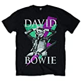 David Bowie Thunder - T-Shirt - Homme, Noir, Small