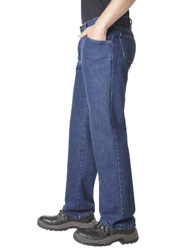 Pionnier wORKWEAR 5 pocket jeans homme avec poche mètre (n ° 315 noir) Bleu