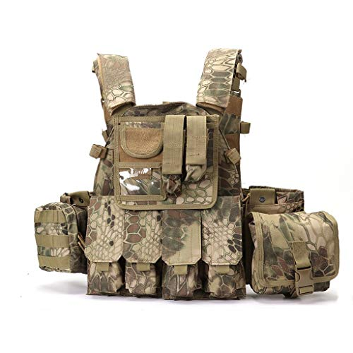 ZS-BX-Outdoor Taktische Weste Camouflage Verbesserte Version von Live CS Tactical Vest Herren Outdoor Militärweste Wild Adventure Airsoft Jagd Tactical Vest (Farbe : A) -