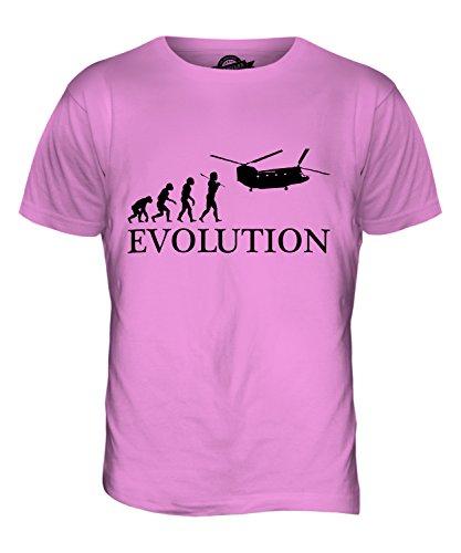 CandyMix Hubschrauber Chinook Evolution Des Menschen Herren T Shirt Rosa
