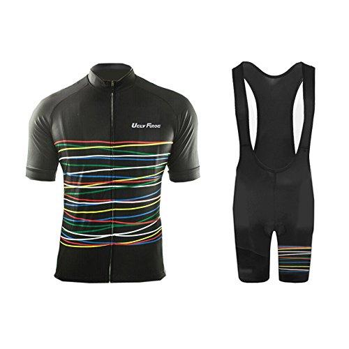 Uglyfrog 2018-2019 Neue Radsport Anzüge Herren Short Trikots+Bib Kurze Hosen Gel Pad Summer Cycling Kit Triathlon Clothes DESAZ03