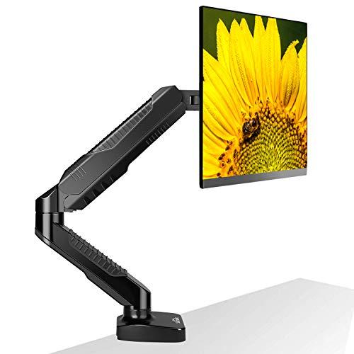 """SIMBR Monitor Halterung 360° Drehbar Gasdruckfeder Tisch Monitor Tischhalterung Monitorarm für 15""""-27"""" Bildschirm VESA75x75/100x100mm, 2 Montageoptionen, Wiegt max 6.5kg"""