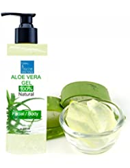 100% Natural Gel d'Aloe Vera - Excellent hydratant Visage & Corps Cheveux - Calmant Aprés Epilation - Flacon Pompe 200 ml