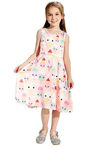 Chicolife für 7-9Years alten Mädchen niedlich Sommer Kleinkind Baby Kinder Mädchen ärmellos (Einfache Kostüme Für 3)