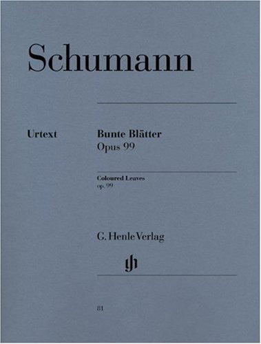Bunte Blätter Op 99. Klavier