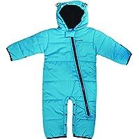 Dare 2b Break The Ice Breathable Full Zip Kids Snowsuit Pantalones de Esquí, Infantil, Fluro Blue, Talla 18-24