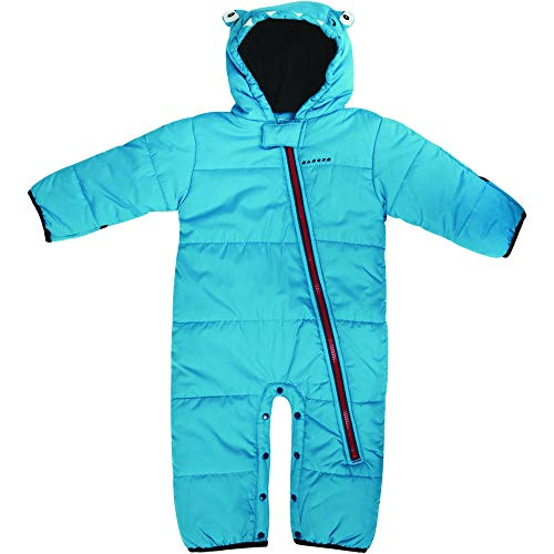 Dare 2b Kinder Break The Ice Breathable Full Zip Kids Snowsuit Lifthose, Fluro Blue, 0-6 Monate Fleece Track Jacke Kinder