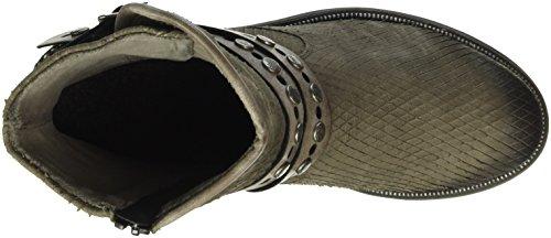 Remonte Damen D1776 Biker Boots Grau (bisam/cigar / 25)