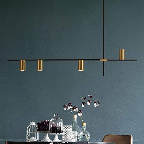 Kronleuchter - Kreative Einfache Schmiedeeisen Kronleuchter, Nordic Light Luxuxwohnzimmer Minimalist-Beleuchtung, LED-Lichtquelle * 4, Länge 130 Cm (warmes Licht) Moderne Einfachheit