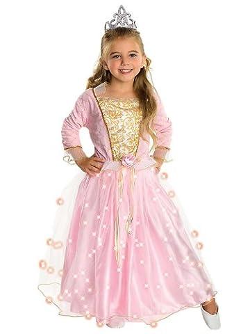 Rose Princesse Twinkle Costume Enfant - Déguisement Enfant Fille - Princesse rose 5-7