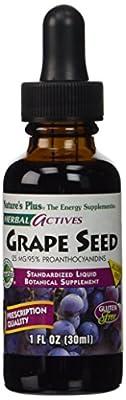 Herbal Actives, Grape Seed, Alcohol Free, 25 mg, 1 fl oz (30ml)