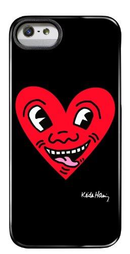 Case Scenario Keith Haring, Decorazione in Stampo, Motivo: Cuore, Colore: Rosso, per iPhone 5/5S