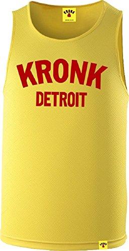 KRONK Detroit Boxing Fitnessstudio Training Weste Gelb