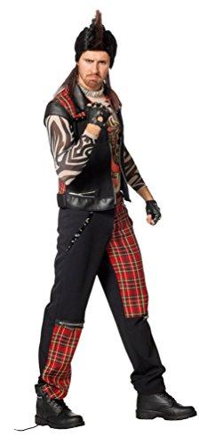 Kostüm Punker Herr Karneval Rocker Herrenkostüm Größe 60