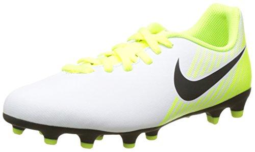 Nike Jr Magistax Ola II FG Scarpe da Calcio Unisex-Bambini, Bianco (White/Black-Volt-Pure Platinum) 38.5 EU