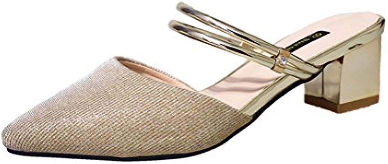 respeedime woHommes 's middle talon brutal avec avec avec pantoufles sexy b07cz3r9y7 confort les sandales parent 5f5f23