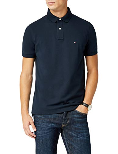 Tommy Hilfiger Herren Poloshirt CORE Regular Polo, Blau (Sky Captain 403), X-Large