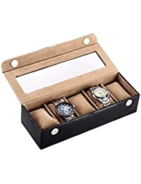 Borse Black Leather Watch Box (Kcp511, 5 Slots, Watch Not Included)