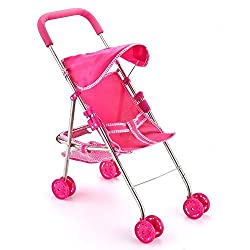 Joyin Toy Pink Foldable Doll Stroller with Hood