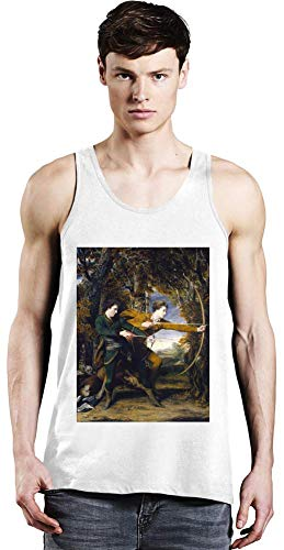 Top Paintings of All Time Joshua Reynolds - The Archers Painting Unisex Tank Top T-Shirt Men Women Stylish Fashion Fit Custom Apparel by X-Large