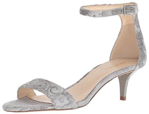 Nine West Damen Leisa Fabric Sandalen mit Absatz, hellgrau, 36.5 EU Nine West Stilettos