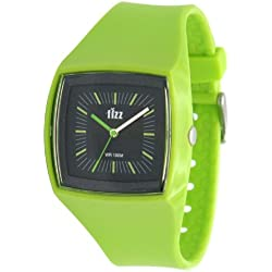 Fizz 5010212 Unisex Green Plastic Strap Watch