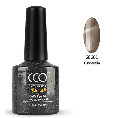 Esmalte uñas gel CCO UV LED Cat's Eye Soak Of, Cenicienta