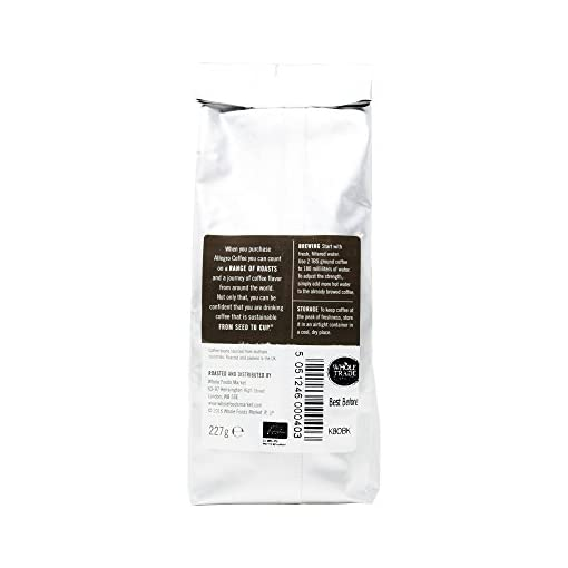 Allegro Coffee Organic Breakfast Blend Whole Bean Coffee, 227 g