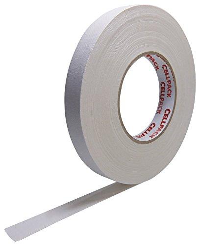 Cellpack 146036900.305-15-50, Stoff-Band, beschichtete Baumwolle, weiß