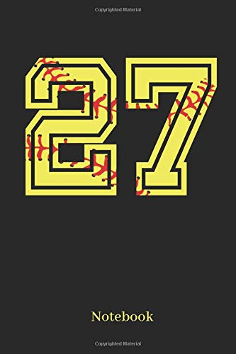 27 Notebook: Softball Player Jersey Number 27 Sports Blank Notebook Journal Diary For Quotes And Notes - 110 Lined Pages por Sporty Girl