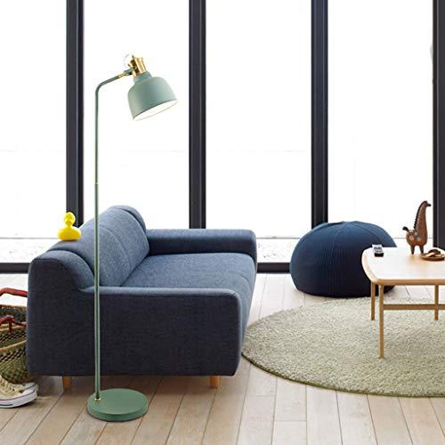 Lampadaires- Lampe flexible lampadaire salon chambre lampe standard facile à installer lampe de lecture en métal et bronze facile à installer lampe de table verticale Nordic (Couleur : Croatia Blue)
