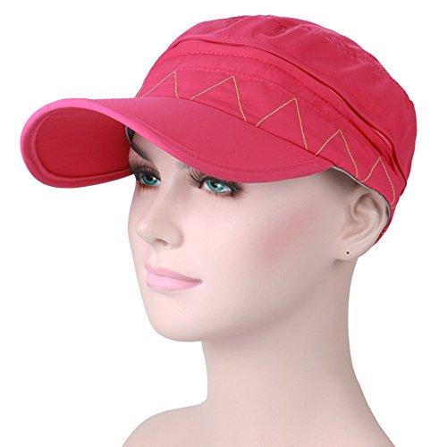2-in-1 Abnehmbar Sonnenschutz Frau Baseballmütze - Chreey Outdoor Freizeit Sport Mode Sonnenhut [Rose rot] (70er Jahre Mode Australien)