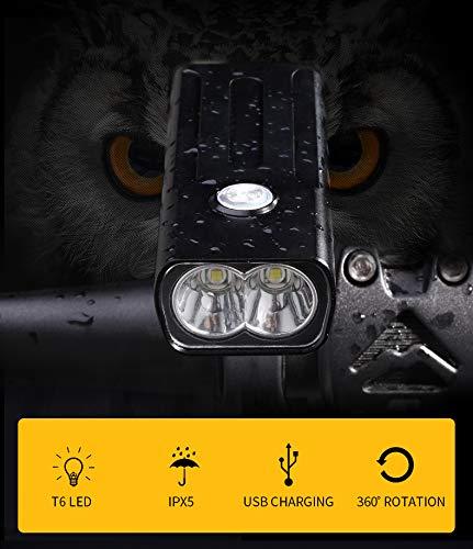 LJ Front Fahrradbeleuchtung, Fahrradbeleuchtung Set wasserdichte Fahrradbeleuchtung Set Wiederaufladbare Led Fahrradbeleuchtung Erdbebenresistenz