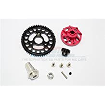 Traxxas Slash 4x4 Low-CG Version Upgrade Parts Aluminium Gear Adapter With Steel 32 Pitch 56T Spur Gear & 13T Motor Gear - 1 Set Red