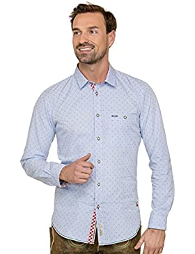 Trachtenhemd Langarm Modern Fit Leeroy Hellblau