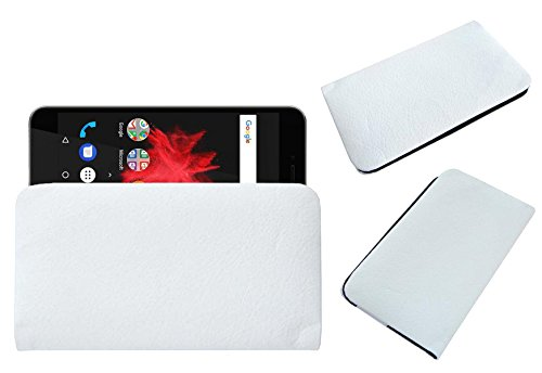 ACM Rich Soft Handpouch Carry Case for Flipkart Billion Capture Plus Mobile Leather Cover White