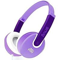 Snug Plug n Play Kids Headphones for Children (Purple)