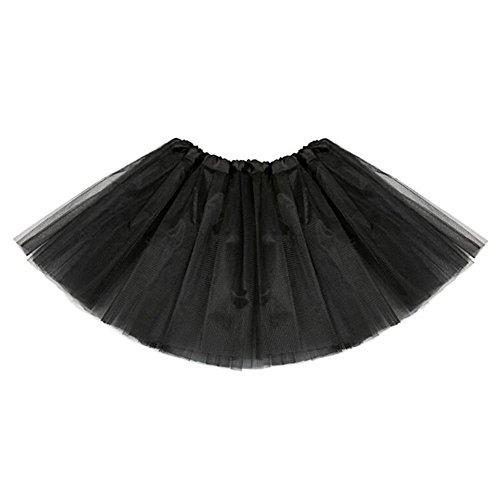 Minifalda Chicas Falda Tutú - Faldas Tul Vestir Ballet Vestido Baile Princesa Faldas Elásticas Negro - Vestir Faldas De