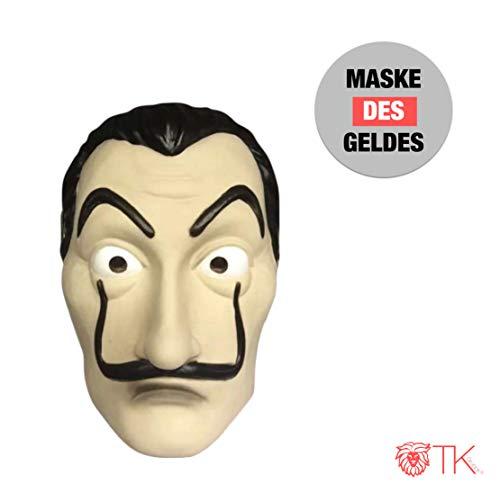 Original Gruppe Kostüm Für Eine - Maske Kostüm Haus des Geldes Verkleidung casa del papel Bella Ciao Haus für Herren, Damen Erwachsene mit Maske bekannt aus Haus des Geldes - Fasching, Karneval, Halloween (1x Maske)