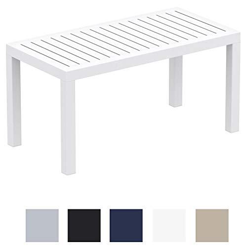 Tavolo Giardino Plastica Bianco.Clp Tavolo Giardino Rettangolare Ocean In Polipropilene Tavolino